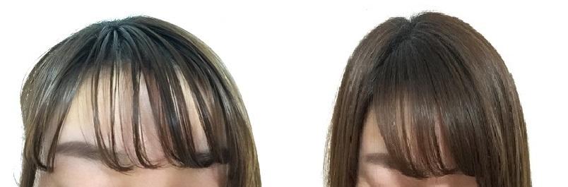 ドライシャンプーを使った髪のビフォーアフター