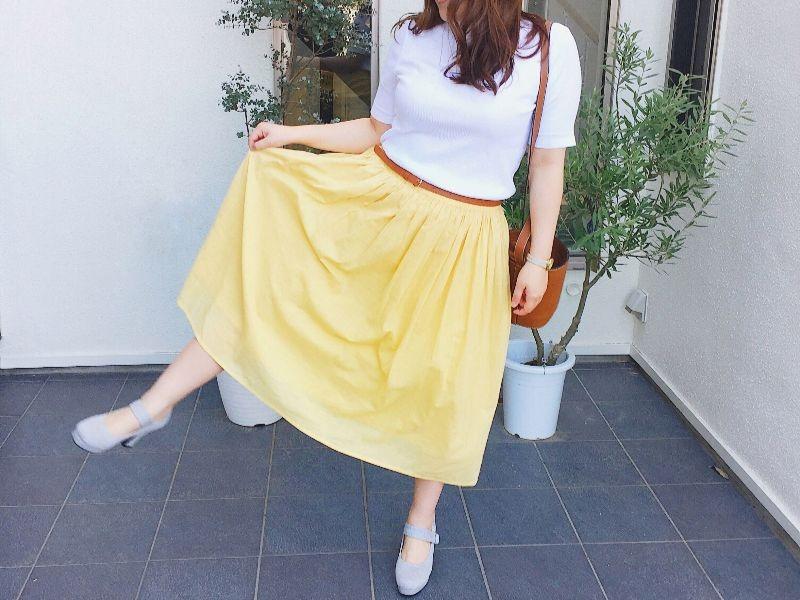 ブT×カラースカートコーデ