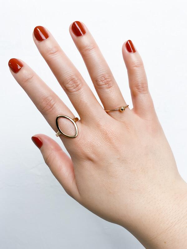 ぽっちゃり 指輪 着用写真