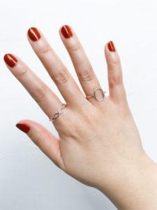 指が太い 指輪 着用写真