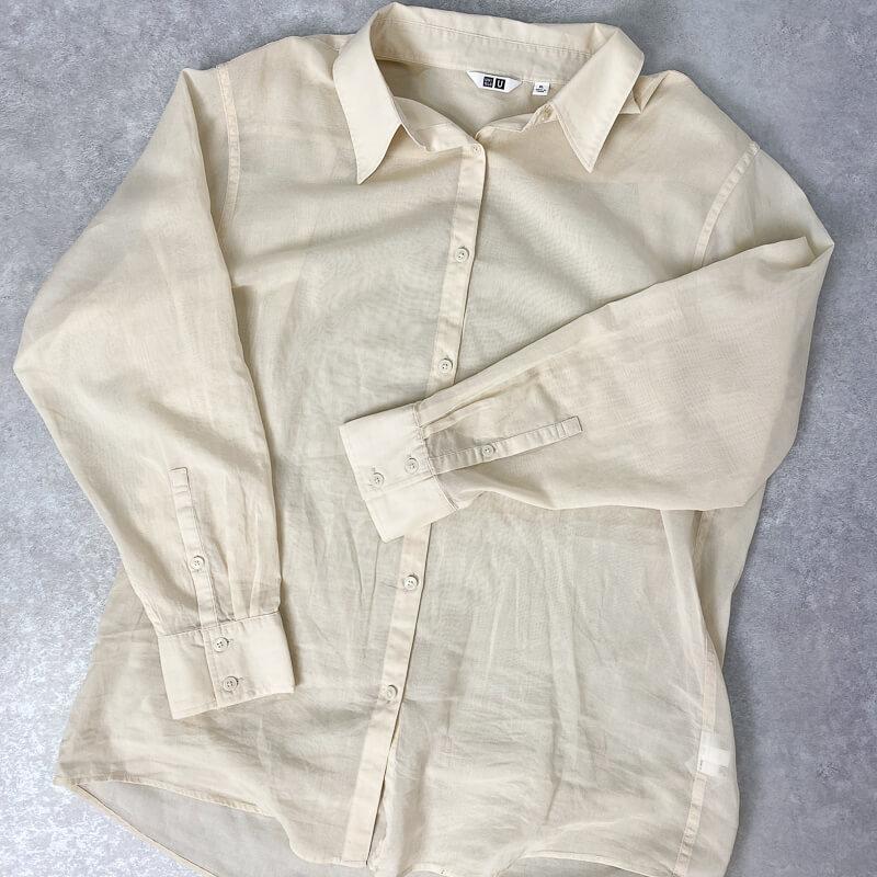 ユニクロユー2021 シアーシャツ