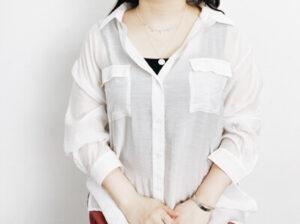 H&M シルバーネックレス 着用コーデ