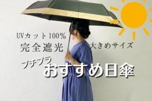 5000円以下! 完全遮光の大きめ日傘がおすすめ/ぽっちゃりでも十分な広さ