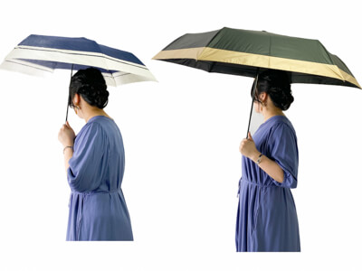 完全遮光日傘 大きさ比較