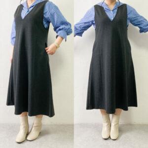 ユニクロ ジャンパースカート サイズ感